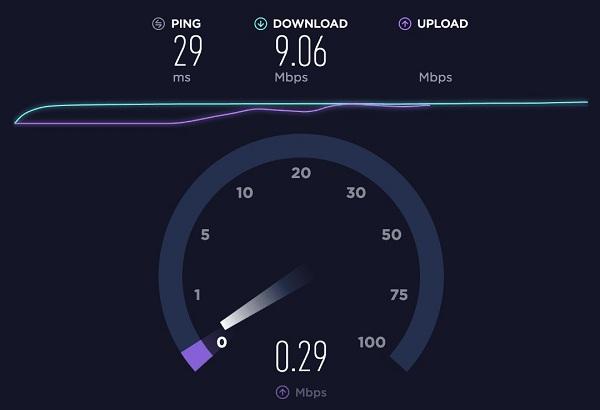Tarkista Internet-nopeus