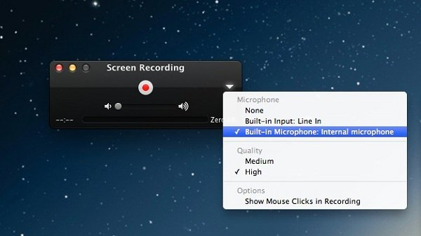 Quicktime screenrecording