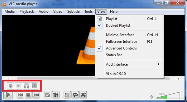 VLC Player Advanced -ohjaimet
