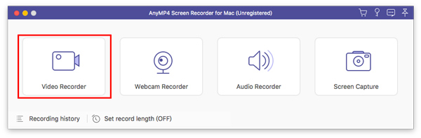 Selecteer videorecorder