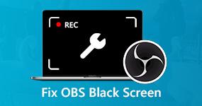 Korjaa OBS-musta näyttö