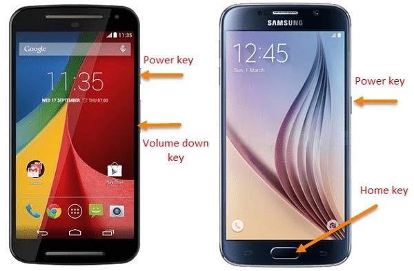 Näyttökuva Android Phone