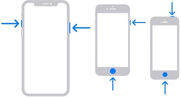 Ota näyttökuva iPhone