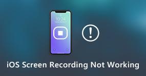 iOS-näytön tallennus ei toimi