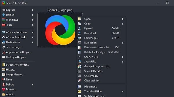 Sharex-pääliitäntä
