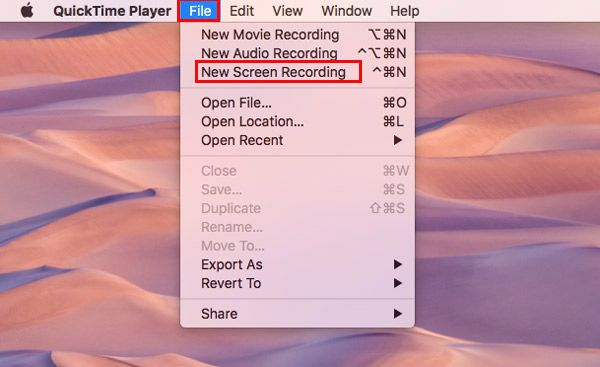 Select new screen recorder