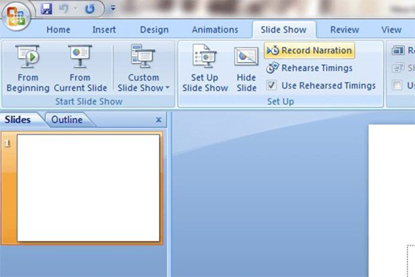 Record a Powerpoint 2007 Menu