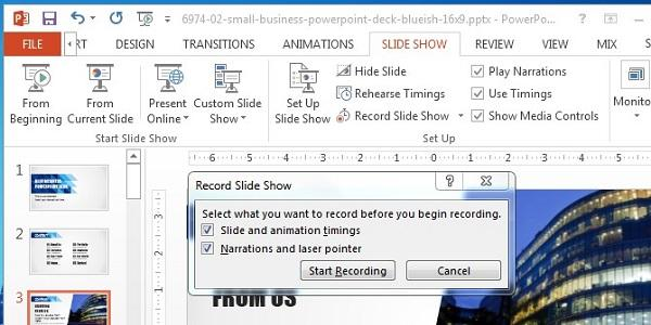Record a Powerpoint 2013