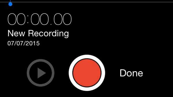 Nauhoita ääni iPhonen äänimuistioihin