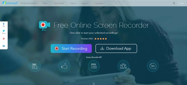 Apowersoft Vapaa Online Screen Recorder