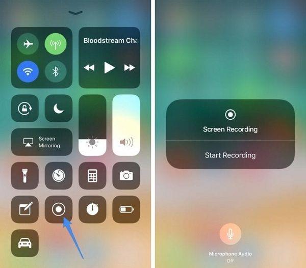 Äänitysnäyttö iPhone