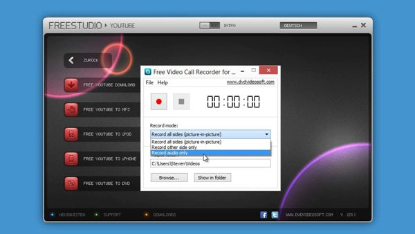 Dvdvideosoft Skype-tallennin