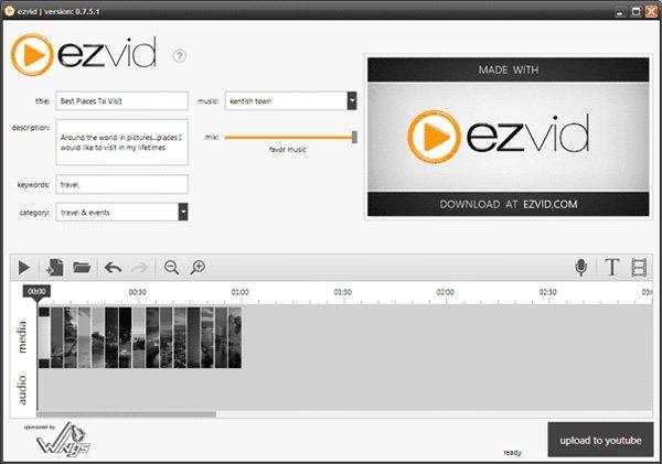 EzVid-näytönkaappaus