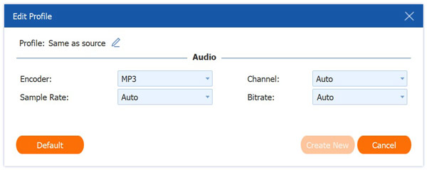 Mukautettu MP3-muoto