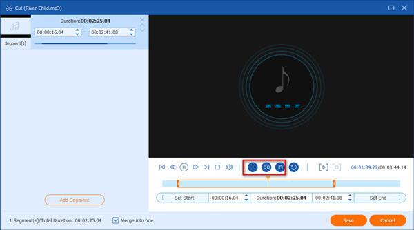 Leikkaa MP3-tiedostoja