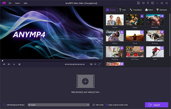 AnyMP4 Video Editor