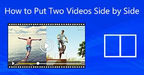Kuinka laittaa kaksi videota vierekkäin
