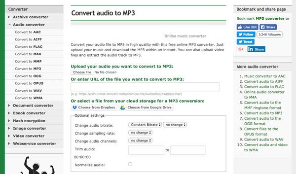Convert AMR to MP3 Online-Convert