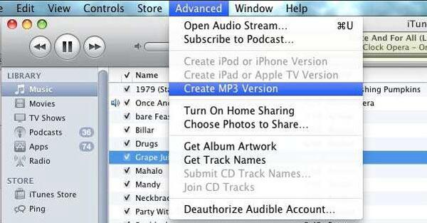 Convert M4B to MP3 iTunes
