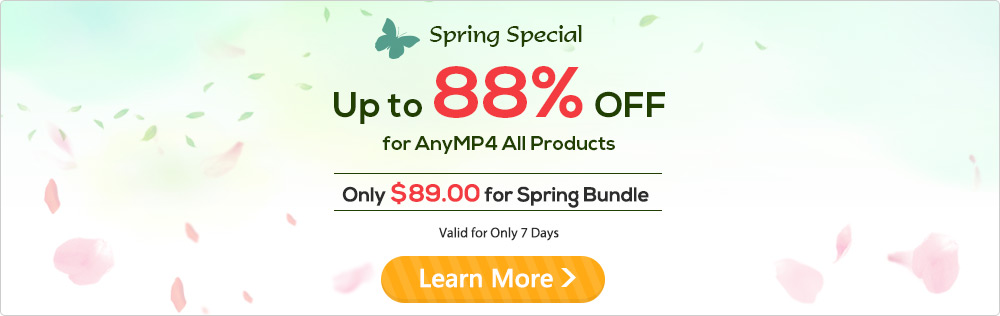 Spring Sales - Up to 88% OFF for All Products and Only $89.00 for Spring Bundle