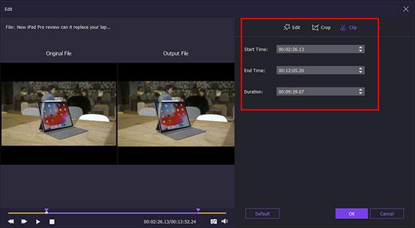 Clip videotiedosto